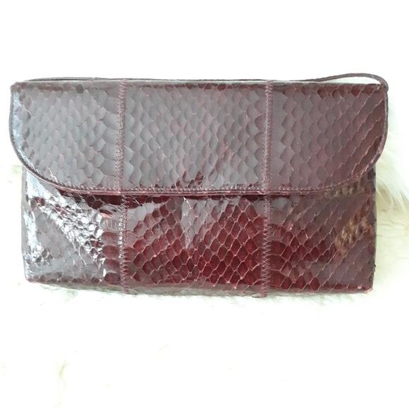 Handbags - Vintage Geniune Snake skin bag